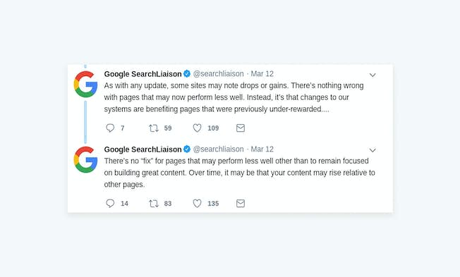 Source: Google SearchLiaison Twitter account