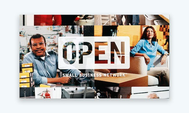 A promotional image for Amex's Small Business Network