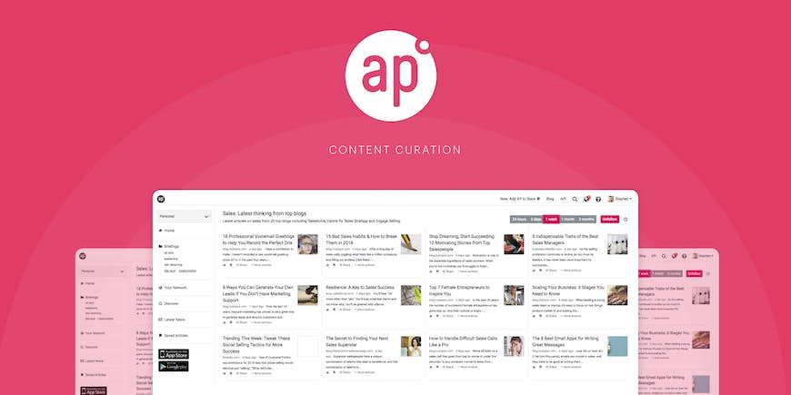 How to use Anders Pink for content curation in Social Selling