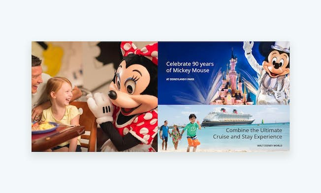These promotional images demonstrate the magic of the Disney brand. Source: Disney digital channels
