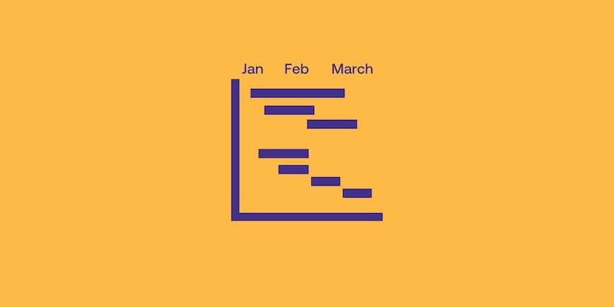 One-Year Gantt Calendar Template