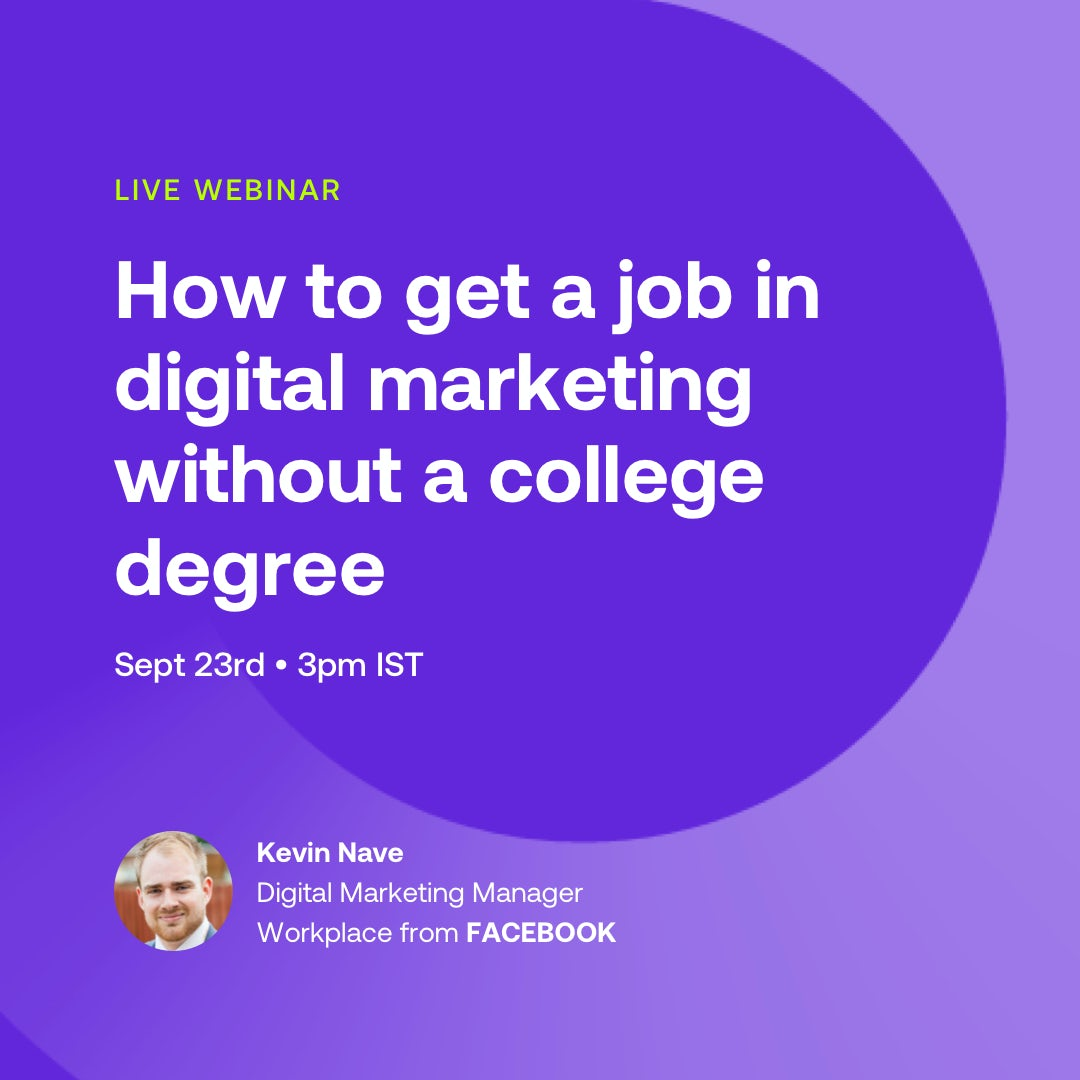 How to get a job in Digital Marketing without a Degree