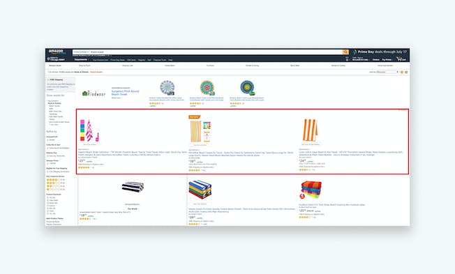 A screenshot of a Sponsored Product ad. Source: www.amazon.com
