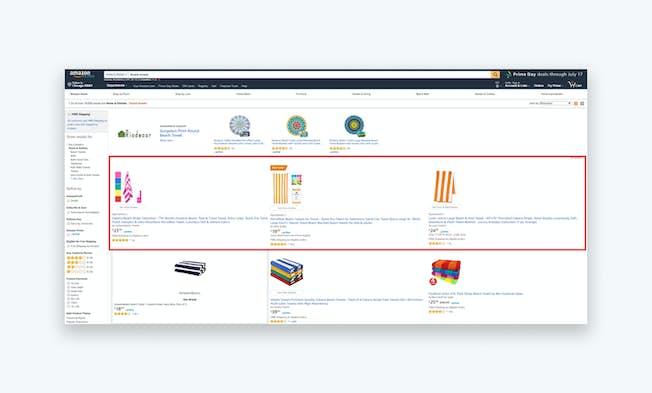 A screenshot of a Sponsored Product ad. Source: www.amazon.com