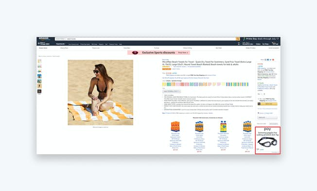 This screenshot shows an example of a Product Display ad. Source: www.amazon.com