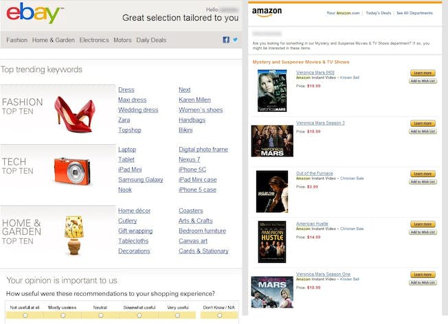 Learning from the Online Retail Giants: Amazon and eBay