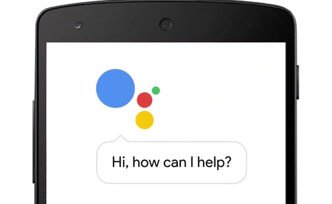 The Google Assistant interface