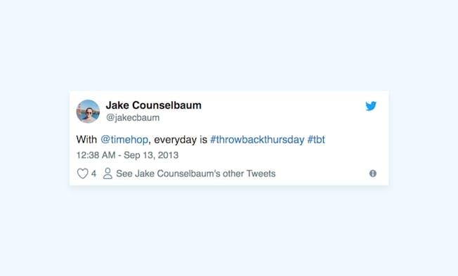#ThrowbackThursday: A Big Social Hit