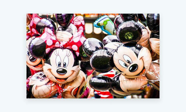 Minnie Mouse and Mickey Mouse balloons. Source: https://pixabay.com/en/disney-balloons-minnie-mouse-680246/